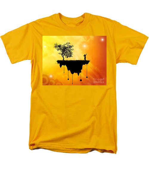 Men's T-Shirt  (Regular Fit) featuring the digital art Slice Of Earth by Phil Perkins