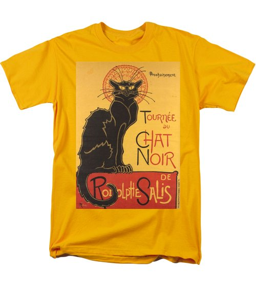 Soon The Black Cat Tour By Rodolphe Salis  Men's T-Shirt  (Regular Fit) by Tracey Harrington-Simpson