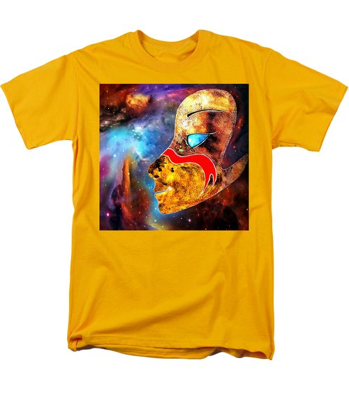 Men's T-Shirt  (Regular Fit) featuring the painting Space  Glory by Hartmut Jager