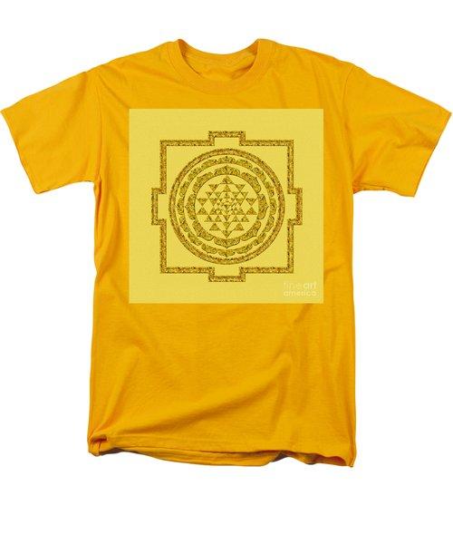 Sri Yantra In Gold Men's T-Shirt  (Regular Fit) by Olga Hamilton