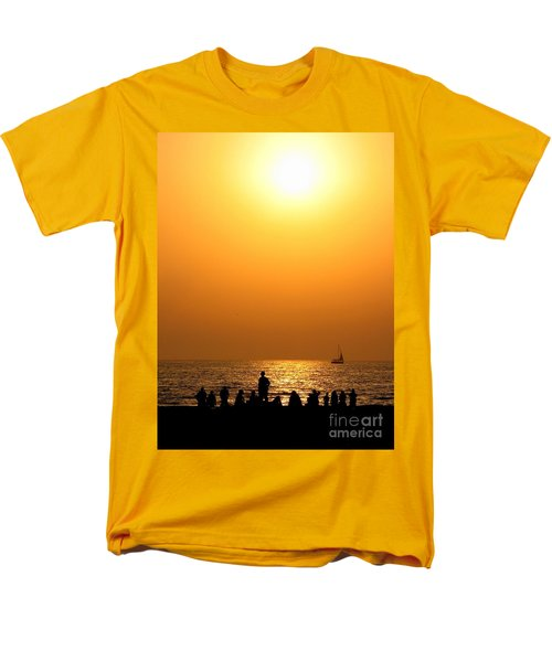 Men's T-Shirt  (Regular Fit) featuring the photograph St. Petersburg Sunset by Peggy Hughes