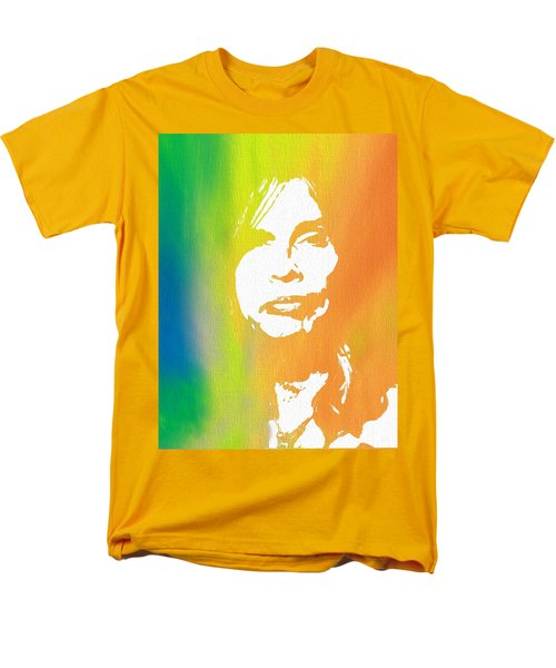 Steven Tyler Canvas Men's T-Shirt  (Regular Fit) by Dan Sproul
