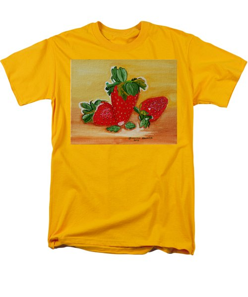 Men's T-Shirt  (Regular Fit) featuring the painting Strawberry Delight by Johanna Bruwer