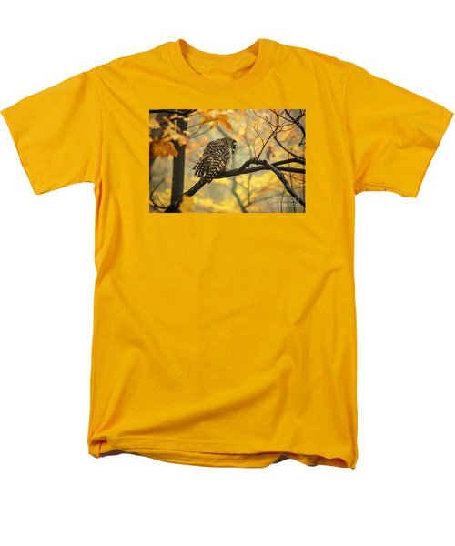 Stubborn Owl Men's T-Shirt  (Regular Fit) by Debbie Green