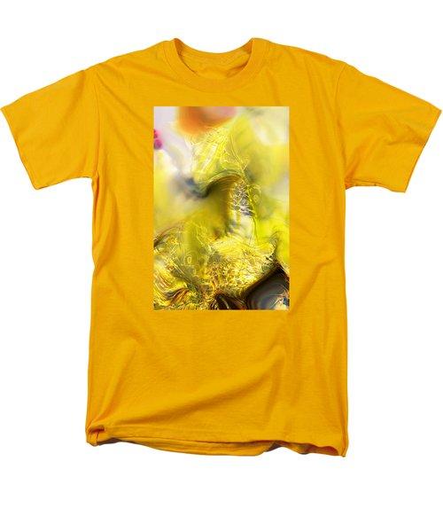 Men's T-Shirt  (Regular Fit) featuring the digital art Summer Barley by Richard Thomas