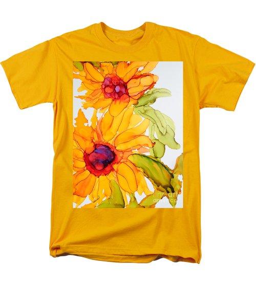 Sunflower Duo Men's T-Shirt  (Regular Fit) by Vicki  Housel