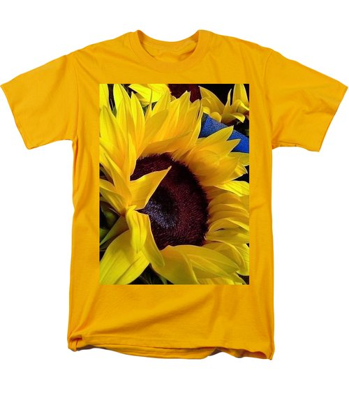 Sunflower Sunny Yellow In New Orleans Louisiana Men's T-Shirt  (Regular Fit) by Michael Hoard