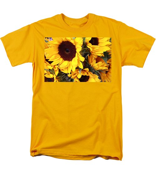 Men's T-Shirt  (Regular Fit) featuring the photograph Sunflowers by Dora Sofia Caputo Photographic Art and Design