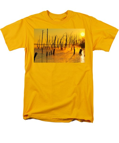 Sunrise Fog Shadows Men's T-Shirt  (Regular Fit) by Roger Becker