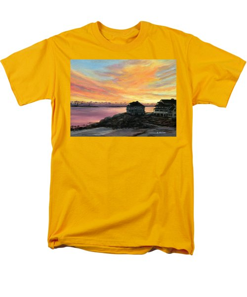 Sunrise Long Beach Rockport Ma Men's T-Shirt  (Regular Fit) by Eileen Patten Oliver