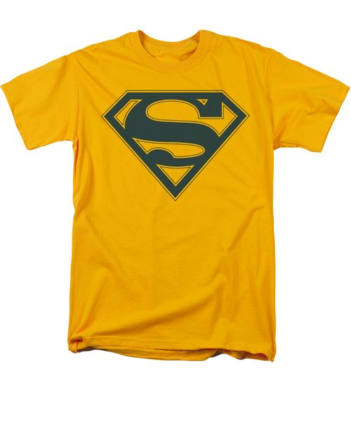 Superman - Navy And Gold Shield Men's T-Shirt  (Regular Fit) by Brand A