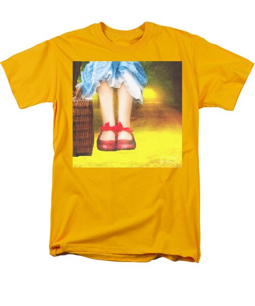 Taking Yellow Path Men's T-Shirt  (Regular Fit) by Mo T