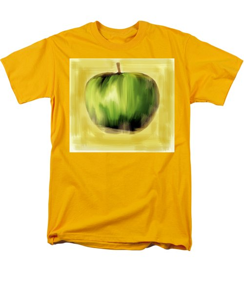 Men's T-Shirt  (Regular Fit) featuring the painting The Creative Apple by Iconic Images Art Gallery David Pucciarelli