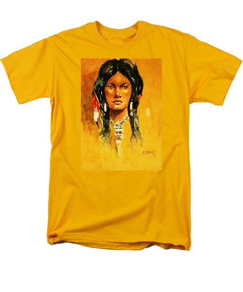 Men's T-Shirt  (Regular Fit) featuring the painting The Maiden Ll by Al Brown