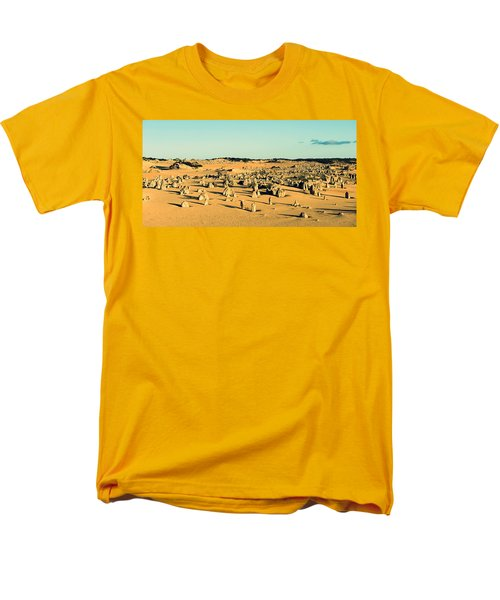 Men's T-Shirt  (Regular Fit) featuring the photograph The Pinnacles Australia by Yew Kwang
