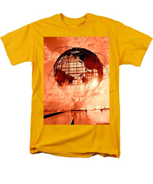 The Unisphere And Fountains Men's T-Shirt  (Regular Fit) by Ed Weidman