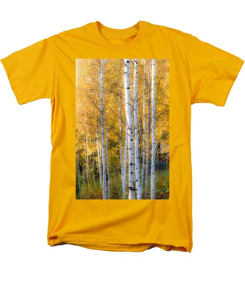 Thin Birches Men's T-Shirt  (Regular Fit) by Ari Salmela