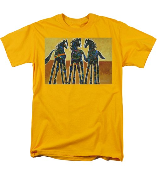 Three Ponies Men's T-Shirt  (Regular Fit) by Lance Headlee