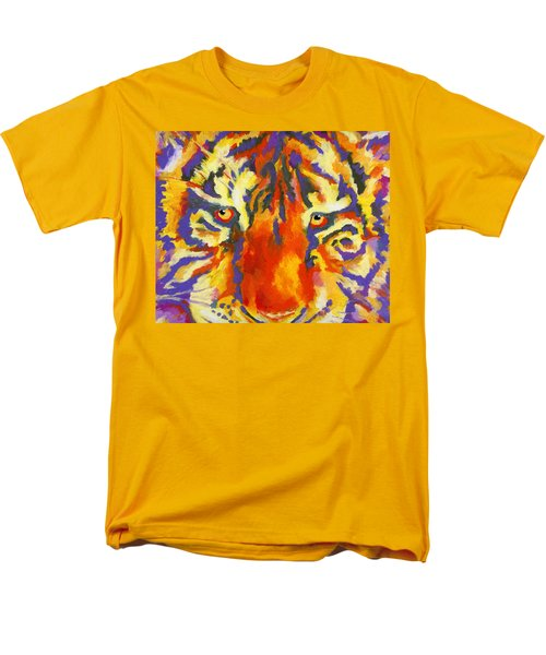 Men's T-Shirt  (Regular Fit) featuring the painting Tiger Eyes by Stephen Anderson