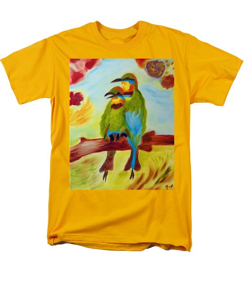 Men's T-Shirt  (Regular Fit) featuring the painting Together by Meryl Goudey