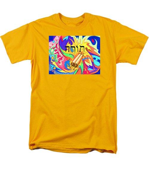 Torah Men's T-Shirt  (Regular Fit) by Nancy Cupp