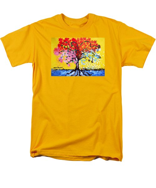 Tree Of Life Men's T-Shirt  (Regular Fit) by Ramona Matei