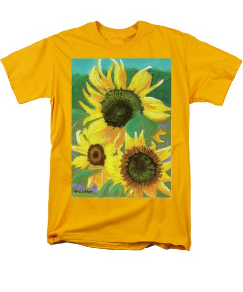 Men's T-Shirt  (Regular Fit) featuring the painting Triple Gold by Arlene Crafton