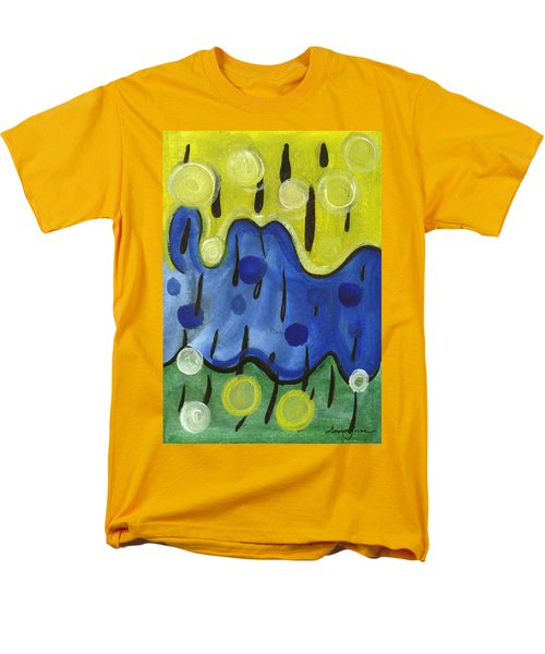Men's T-Shirt  (Regular Fit) featuring the painting Tropical Rain by Stephen Lucas
