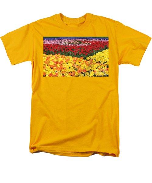 Men's T-Shirt  (Regular Fit) featuring the digital art Tulip Field by Tim Gilliland