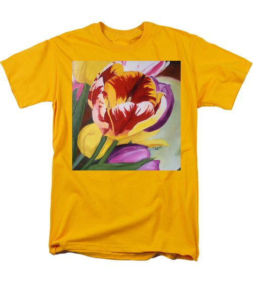 Tulips Men's T-Shirt  (Regular Fit) by Claudia Goodell