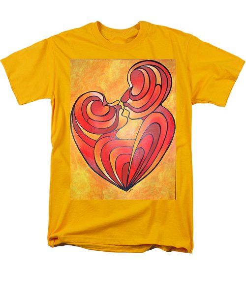 Men's T-Shirt  (Regular Fit) featuring the painting We Two Are One by Tracey Harrington-Simpson