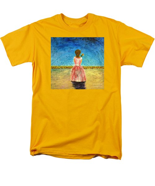 Men's T-Shirt  (Regular Fit) featuring the painting Where Angels Sleep by Therese Alcorn