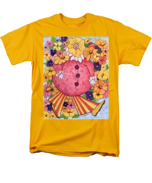 Men's T-Shirt  (Regular Fit) featuring the painting Whimsy On Parade  by Barbara Jewell