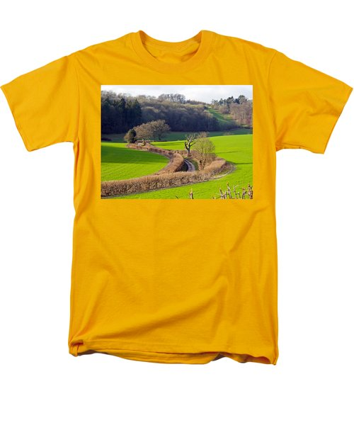 Winding Country Lane Men's T-Shirt  (Regular Fit) by Tony Murtagh