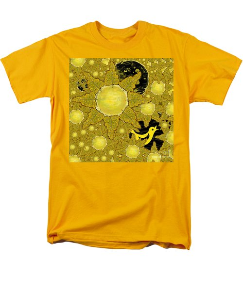 Yellow Bird Sings In The Sunflowers Men's T-Shirt  (Regular Fit) by Carol Jacobs