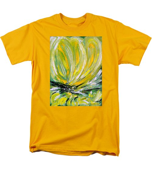 Yellow Butterfly Men's T-Shirt  (Regular Fit) by Jasna Dragun