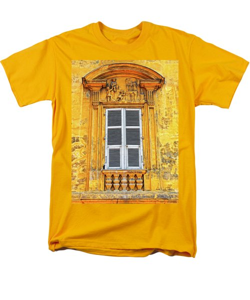 Men's T-Shirt  (Regular Fit) featuring the photograph Yellow Window Nice France by Dave Mills