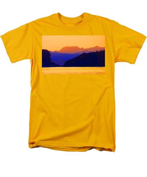 Men's T-Shirt  (Regular Fit) featuring the photograph Agua Verde Abstract by Anne Mott