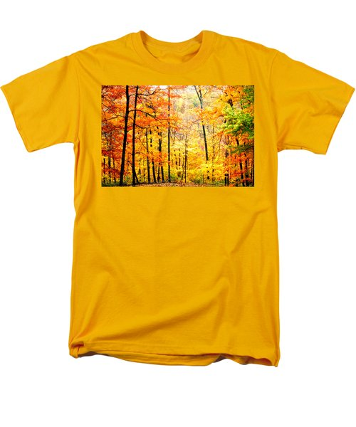 Men's T-Shirt  (Regular Fit) featuring the photograph Autumn Forest by Randall Branham