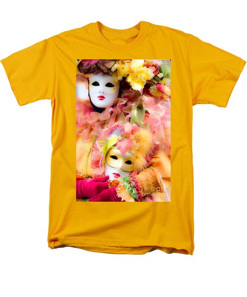 Men's T-Shirt  (Regular Fit) featuring the photograph Carnival Mask by Luciano Mortula