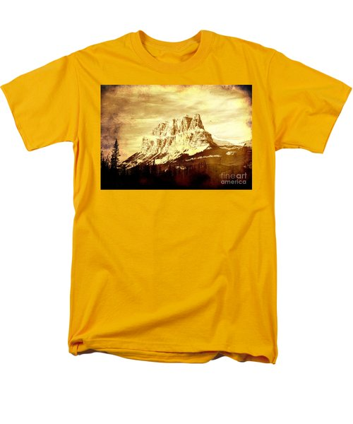 Castle Mountain Men's T-Shirt  (Regular Fit) by Alyce Taylor
