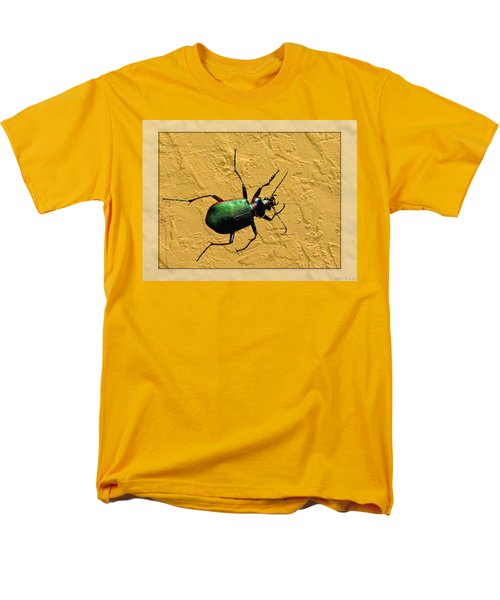 Men's T-Shirt  (Regular Fit) featuring the photograph Jeweltone Beetle by Debbie Portwood