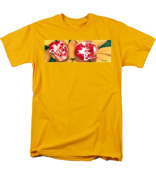 Red White And Yellow Men's T-Shirt  (Regular Fit)