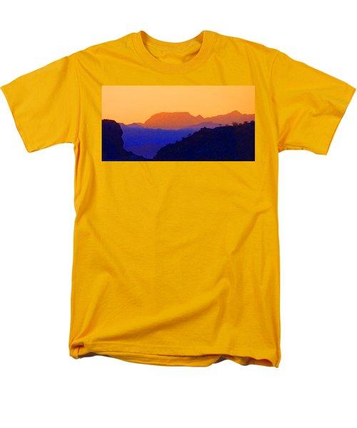 Men's T-Shirt  (Regular Fit) featuring the digital art Sunset Over The Sierra Gigantes by Anne Mott