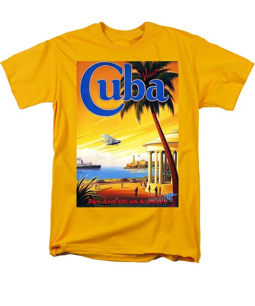 Men's T-Shirt  (Regular Fit) featuring the painting Visit Cuba by Reproduction