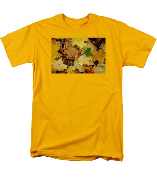 Men's T-Shirt  (Regular Fit) featuring the photograph Autumn Leaves  by Gary Bridger