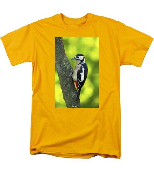 Great Spotted Woodpecker Men's T-Shirt  (Regular Fit) by Paul Scoullar