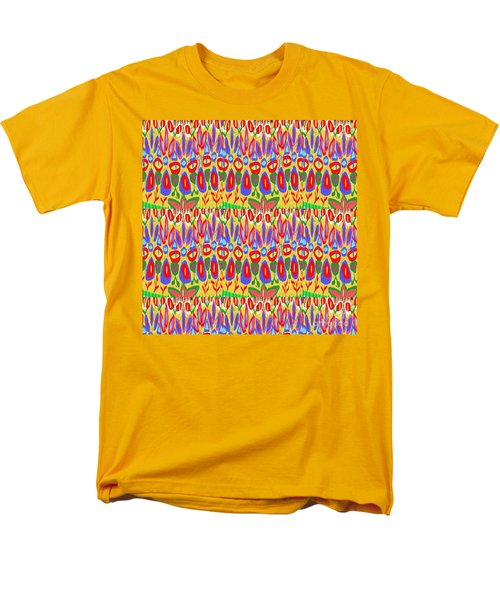 Happy Celebrations Abstract Acrylic Painting Fineart From Navinjoshi At Fineartamerica.com These Gra Men's T-Shirt  (Regular Fit) by Navin Joshi