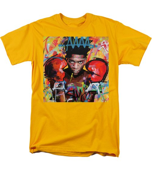 Men's T-Shirt  (Regular Fit) featuring the painting Jean Michel Basquiat by Richard Day