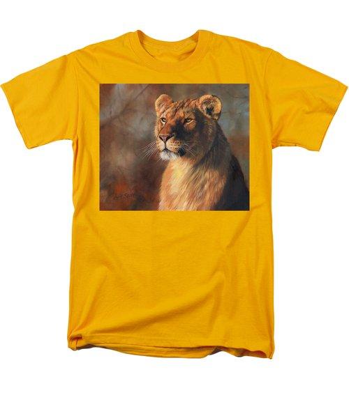 Lioness Portrait Men's T-Shirt  (Regular Fit) by David Stribbling